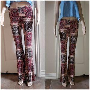 Full ❤ tilt floral flare pants